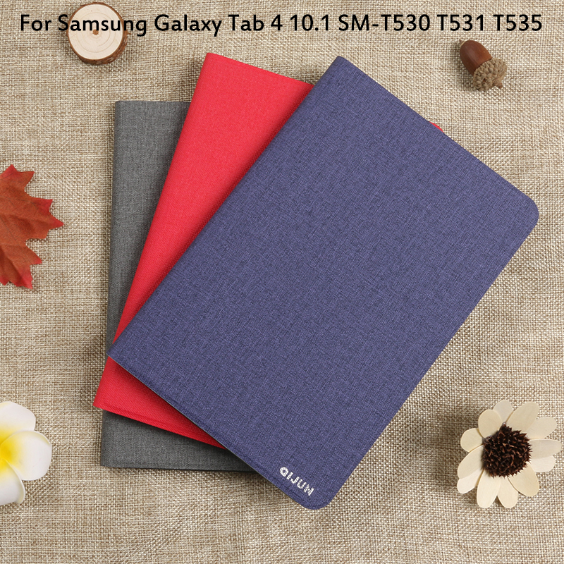 Flip Case For Samsung Galaxy Tab <font><b>4</b></font> <font><b>10.1</b></font> SM-T530 T531 Cover Tablet Case Tab4 <font><b>10.1</b></font> T535 Full Protective Pouch Bags image