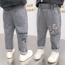 Girls Jeans for Kids spring autumn Trousers Children Jeans Kids Fashion Denim Pants Baby Boys Jean Infant Clothing Casual pants cheap CN(Origin) Fits true to size take your normal size Elastic Waist Unisex high Solid Regular medium