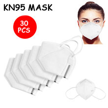 Máscaras de 5 camadas kn95 adaptável contra a poluição respirável n95 máscara de segurança não tecido earloop kn95 máscara proteção nível protetor
