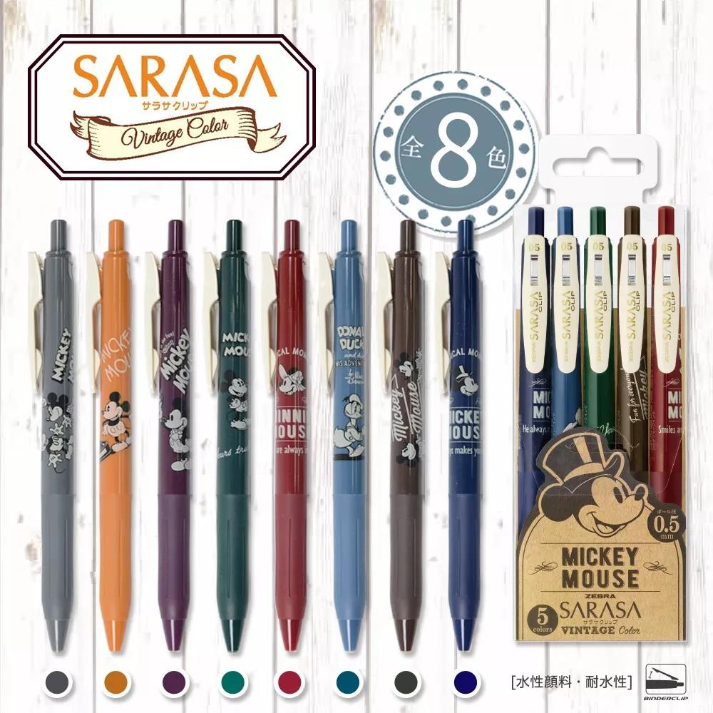 Limited Japanese Stationery Zebra Vintage Gel Pens JJ15 Mickey Mouse Cute Pen 0.5mm  Pens For School Cartoon Kawaii Stationary