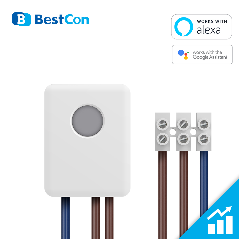 New BroadLink SCB1E Smart WiFi Module 16A Metering switch works with Alexa and Google AssistantHome Automation Modules   -