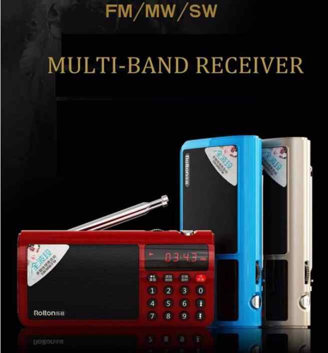 Beesclover Rolton T50 Draagbare Wereld Band Fm/Mw/Sw Stereo Radio Speaker MP3 Music Player Sd/Tf kaart Voor Pc Ipod Telefoon R60