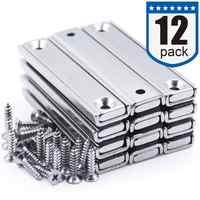 Starke Neodym magnete mit Zähler Bohrung, senkkopf Loch Magnetische mit Montage Schrauben-60x13,5x5mm, Pack von 12