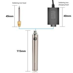 Image 4 - Handskit 5V 8W elektrikli şarj edilebilir havya pil ev mini çok fonksiyonlu takım taşınabilir kablosuz kaynak kalem