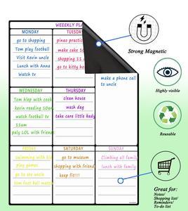 Image 5 - Lavagna magnetica per frigorifero da cucina frigorifero multiuso calendario settimanale lavagna bianca per pianificazione Menu con 8 penne