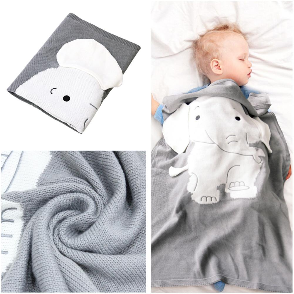 Ultra-Soft Cute Cotton Blankets Rabbit Bedding Cover Newborn Baby Bunny Warm Bed