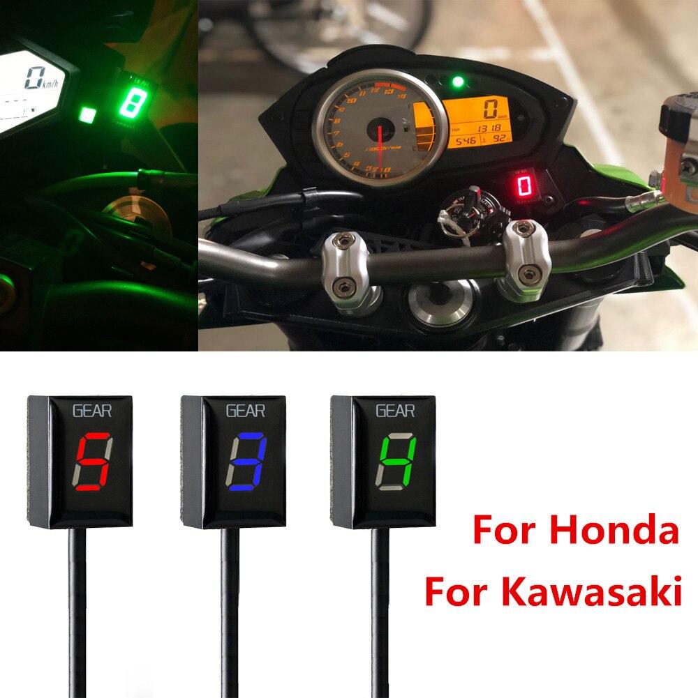 Moto Ecu montage Direct 1-6 vitesse vitesse affichage indicateur pour Honda pour Kawasaki ER6N Ninja 650 Ninja 300 Z750 Z900 Z800 Zx6R