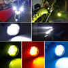1set Motorcycle spotlights Fog DRL lamp led glare waterproof flashing external  modification auxiliary 12V BMW rogue lights 60W discount