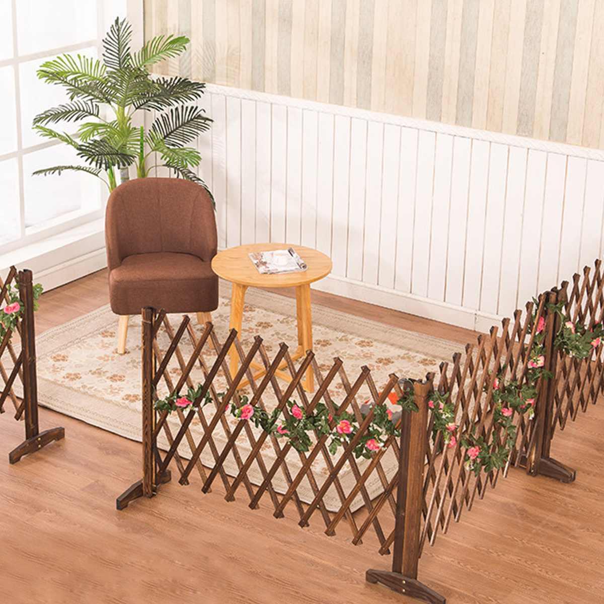 Expanding Wooden Garden Wall Fence Panel Plant Climb Trellis partition Decorative Garden Fence for Home Yard Garden Decoration