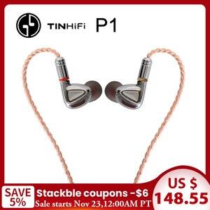 Image 1 - TINHiFi P1 écouteur Hifi pas de micro étain audio P1 avec câble MMCX écouteur