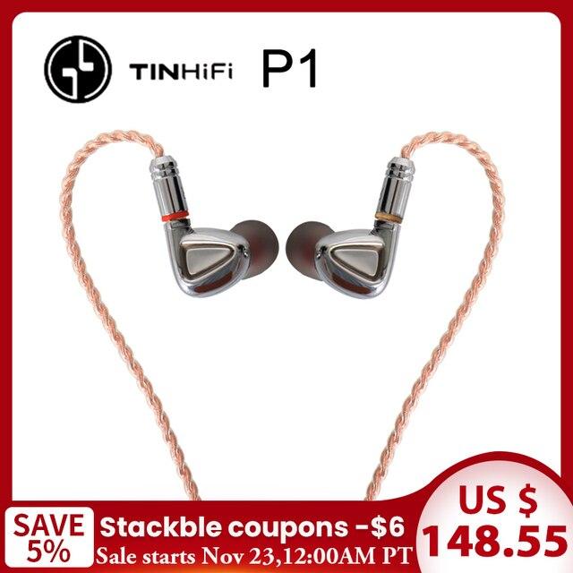 TINHiFi P1 écouteur Hifi pas de micro étain audio P1 avec câble MMCX écouteur