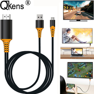 Image 1 - USB 유형 C HDMI 케이블 Macbook 용 HDTV AV 비디오 어댑터 LG G5 Samsung Galaxy S10 + S10e S9 + S8 + Note9 참고 8 Android Phone to TV