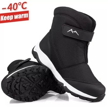 Fur Boots Winter Shoes Casual-Shoes Non-Slip Outdoor Thick WEH for Man Plus Velve Men