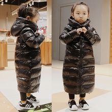 Olekid/2021 толстые теплые Зимняя куртка для девочек Водонепроницаемый