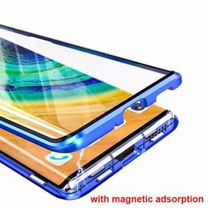 Image 3 - חדש טלפון סלולרי מקרה עבור סמסונג S8 S9 S10 S20 E 5G הערה 8 9 10 פרו בתוספת כיסוי מתכת משני זכוכית 360 מגן עמיד הלם
