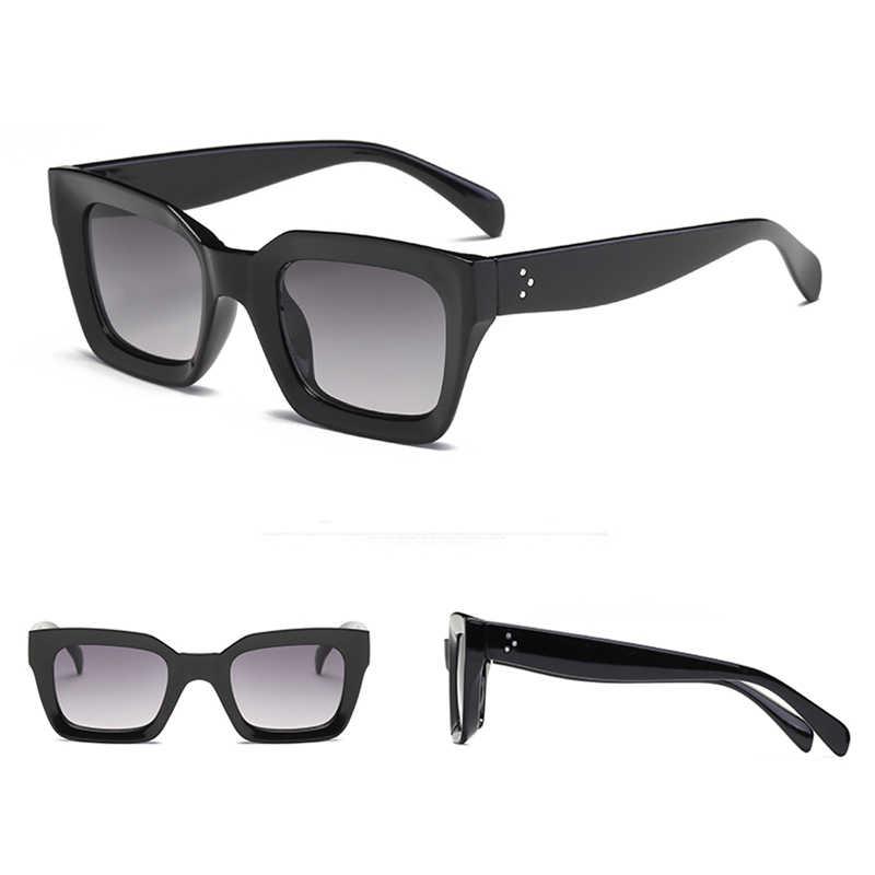 Женские квадратные солнцезащитные очки RBRARE, винтажные дизайнерские очки с градиентом, 2020