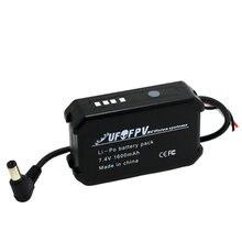 UFOFPV Pack de batterie Lipo Rechargeable, 7.4V, 1600mAh, testeur pour Fatshark HD2/V3, lunettes vidéo FPV, casque VR