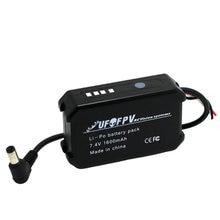 Ufofpv 7.4v 1600 2200mahのリポバッテリー充電式パックledインジケータテスターfatshark HD2 / V3 fpvビデオゴーグルvrヘッドセット