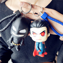 5pcs lot marvel movie masks avengers hulk captain america batman spiderman ironman party mask boy gift action figures toys e Marvel DC Avengers Keychain Batman Captain America Shield Hulk Batman Mask 3D Cartoon Figure PVC Key Ring Wholesale 2020