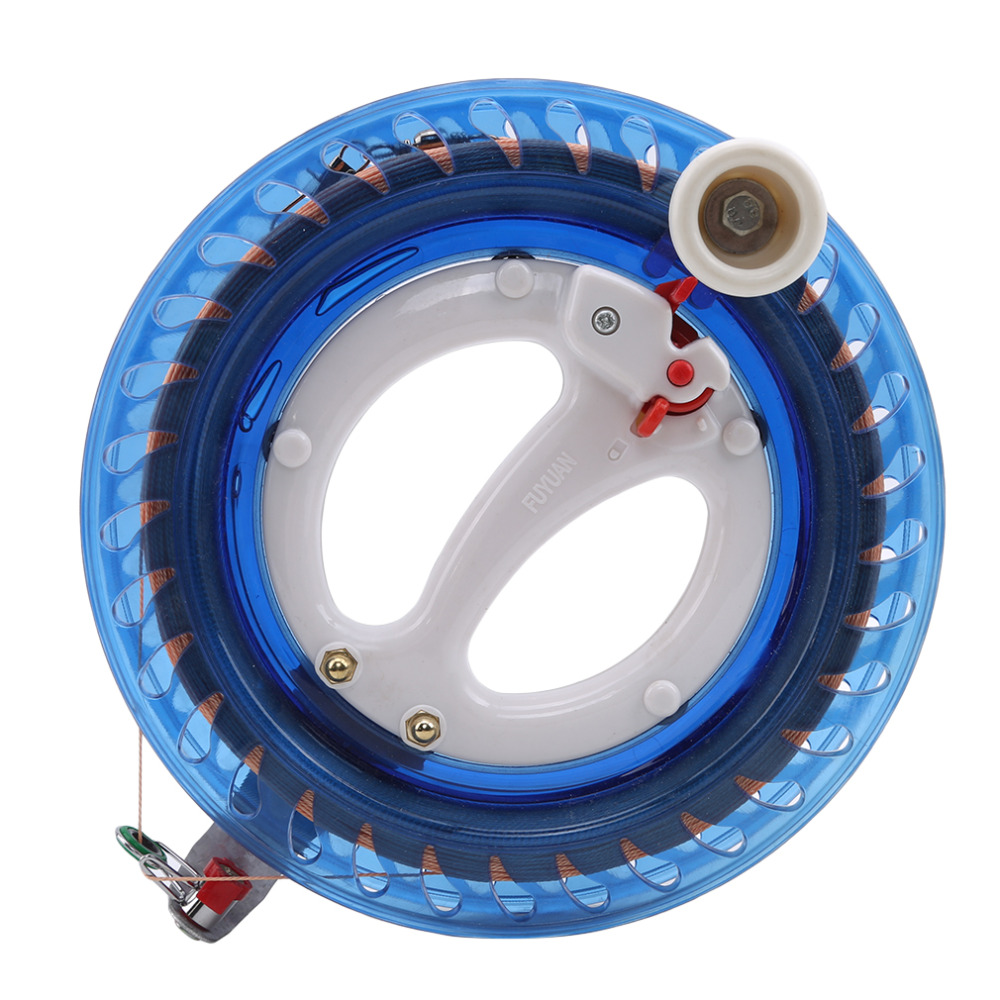 New Kite Reel Winder Fire Wheel String Flying Handle Tool Twisted String Line Outdoor Round Blue Grip For Kite Accessories