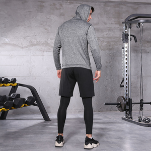 Image 3 - Men Sportswear Compression Sport Suits Breathable Gym Clothes Man Sports Joggers Training Gym Fitness Tracksuit Running Sets 3XL