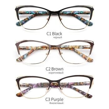 Metal Cat Eye Eyeglasses  4