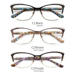 Image 5 - ผู้หญิงแฟชั่น CAT EYE แว่นตากรอบแว่นตากรอบแว่นตา Retro แว่นตาคอมพิวเตอร์โปร่งใสแว่นตาสำหรับผู้หญิง