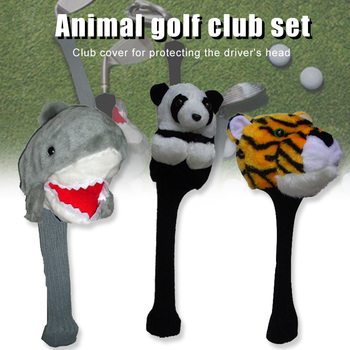 цена на Animal Golf Headcover Driver Head Cover Sports Outdoor Sport Plush Golf Clubs Headcovers Golf Club Accessories ALS88