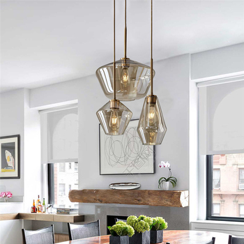 Nordic Glass Ball Modern Pendant Lights Dining Room Kitchen Hanging Lamps Living Decor for Home LED Light Fixtures