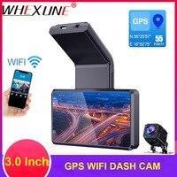 WHEXUNE DVR 3.0 GPS Car DVR Camera Dual Lens Dash Cam Full HD 1080P WIFI Car Camera Recorder 150 Degree Night Vision G sensor