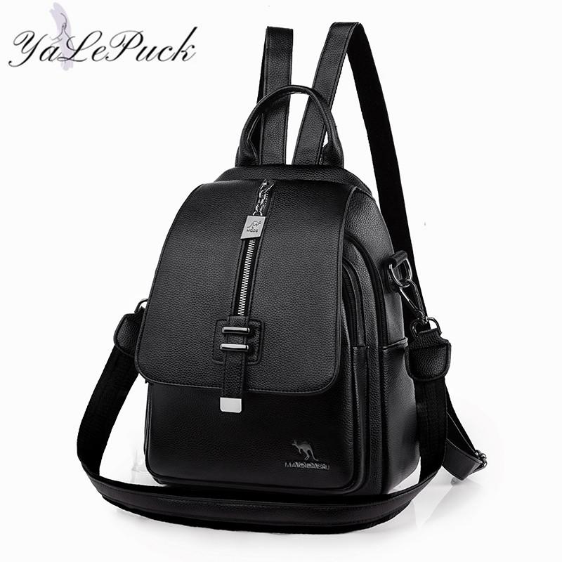 Women Backpack Designer high quality Leather Women Bag Fashion School Bags Multifunction Large Capacity Travel Backpacks mochila