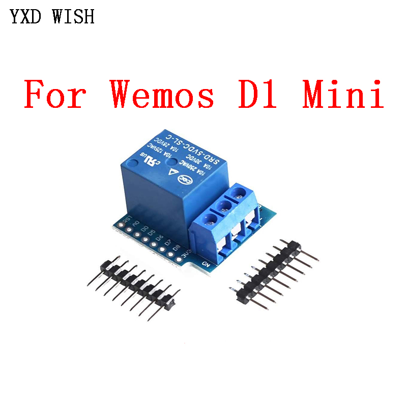 1 channel Relay Module For Wemos D1 Mini One Way Relay Shield For Arduino ESP8266 Development Board 1 Road Relays For D1 Mini