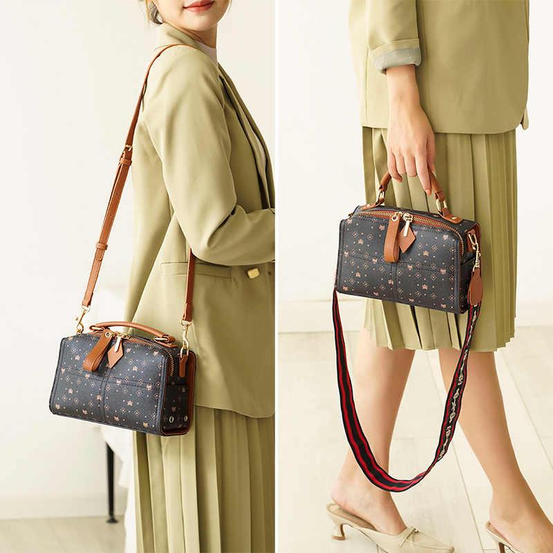Foxer gravando senhoras caixa mensageiro saco das mulheres do vintage senhora pvc bolsa pequena praça totes moda selvagem bolsa de ombro