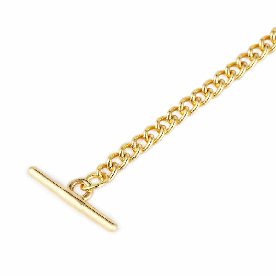 Золотые/черные карманные цепочки T-Bar