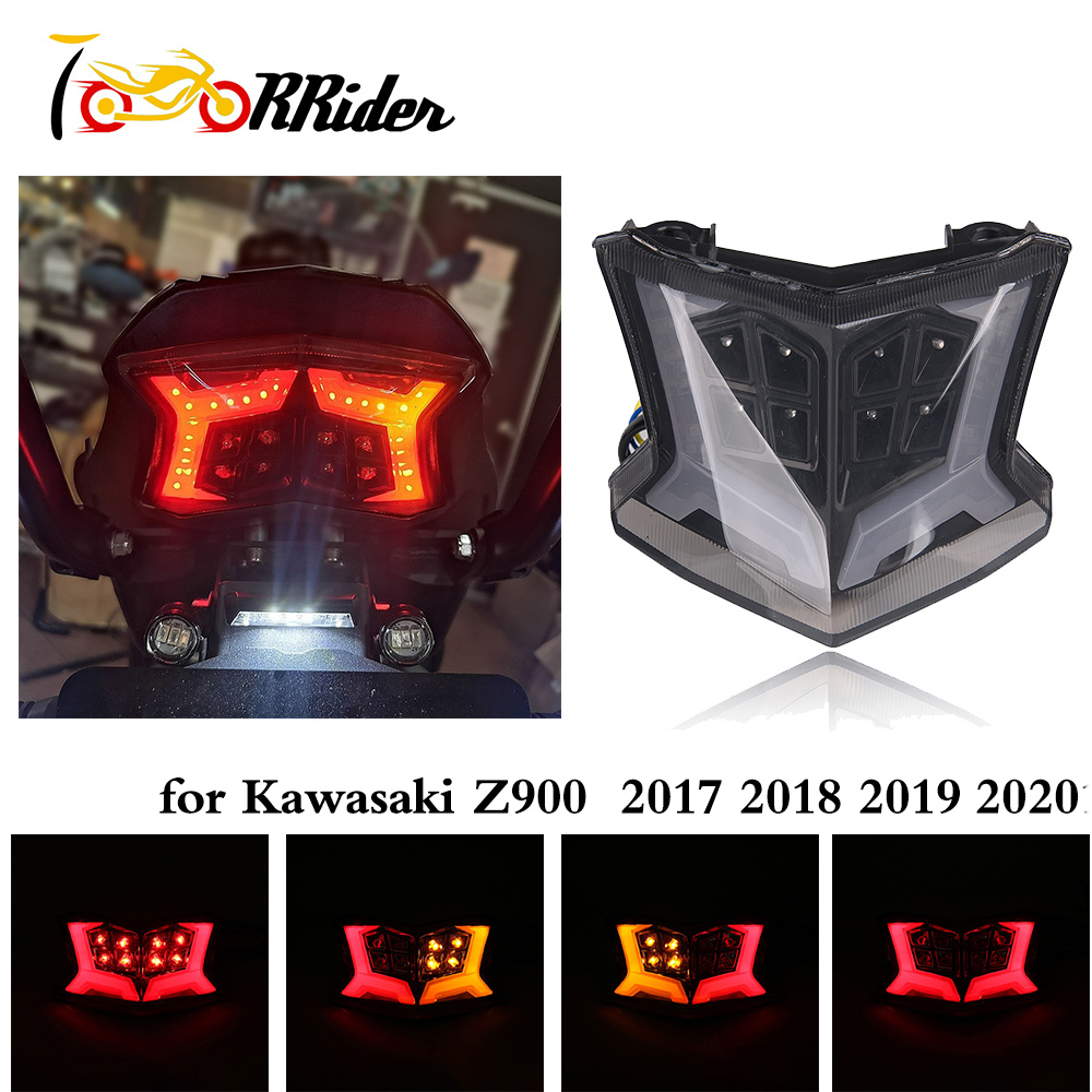 Turn-signal brake run winglets fender led 3-in-1 black HARLEY DAVIDSON ABS ...