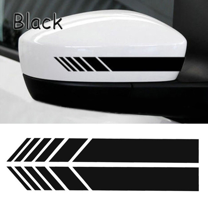 2pcs Rear View Mirror Sticker Reflective Car Stickers And Decals Car Rearview Mirrors Decoration Exterior Accessories Car Decal
