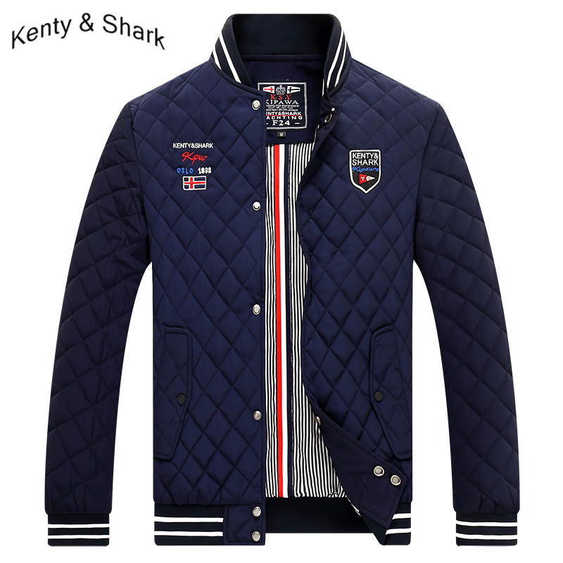 Men's Windbreakers Cotton Liner Warm Bomber Jacket Outerwear Kenty Shark Brand Men's Jackets Autumn Trench Coat Man Size 4XL