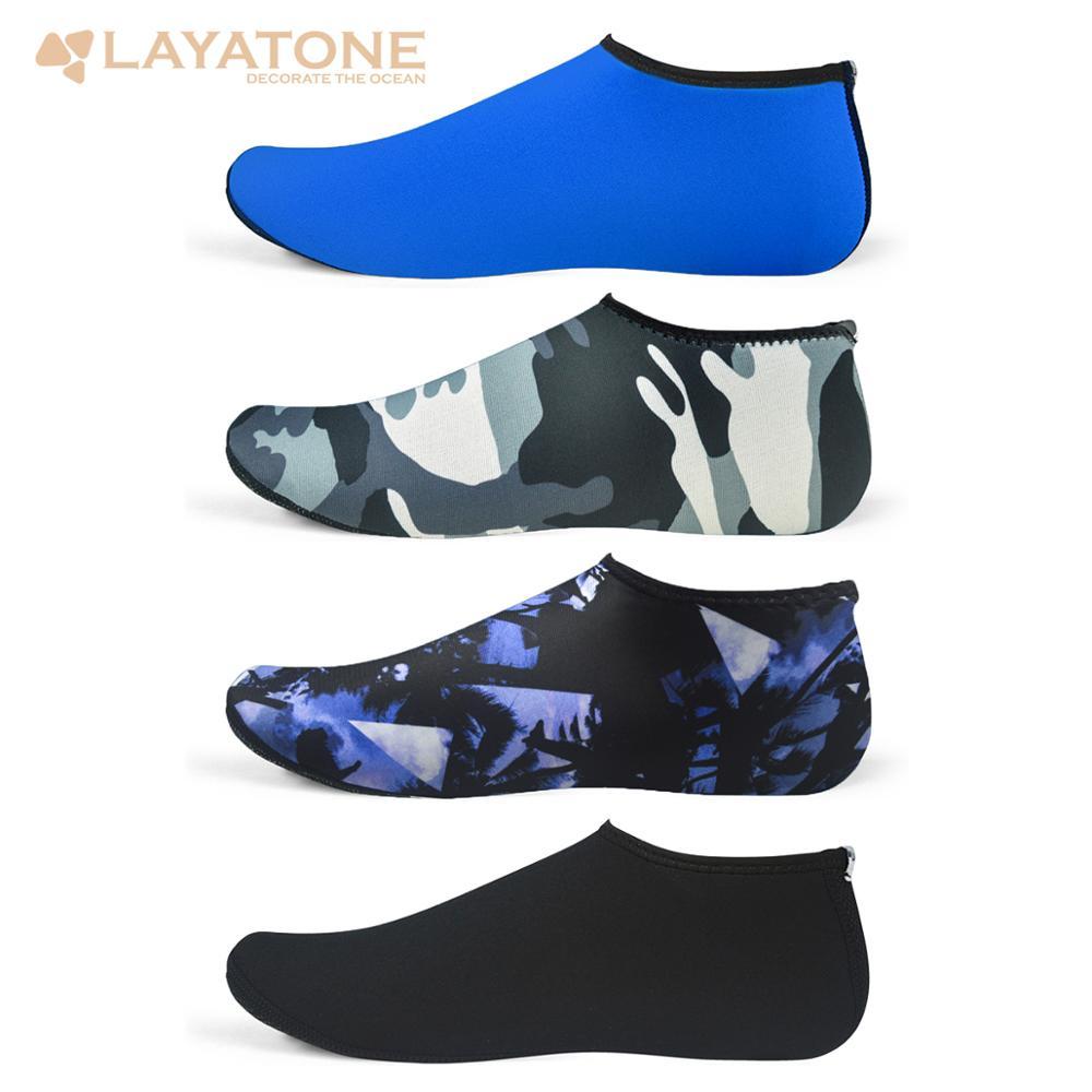 LayaTone Water Socks Men Women Beach Socks 2.5mm Neoprene Diving Kayaking Snorkeling Swim Fin Socks Boating Yoga Beach Shoes