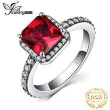 Jewelrypalace 925 Sterling Silver Created Ruby Ring  Gifts For Women Anniversary Gifts Fashion Jewelry New Princess Engagement недорого