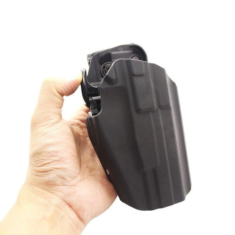 Funda táctica Universal para pistola Glock, Material ABS, color negro, compatible con Glock 17,18C,20,21,22,37 H & K 45 P30L VP40