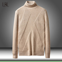 Winter Warm Turtleneck Sweater Men Fashion Solid Knitted Mens Sweaters 2019 Casual Male Slim Fit Pullover Clothing Man New Tops(China)