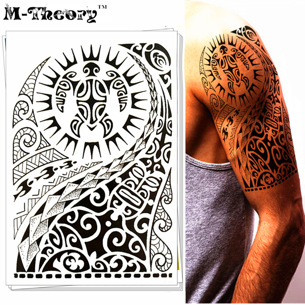 >Waterpoof Tribal Temporary Tattoo Sticker - Rave Party Disco Hot <font><b>Styling</b></font> Body Art Makeup - No Harm to Skin and Easy to Remove