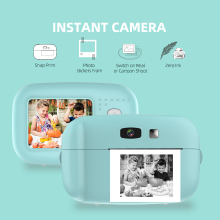 1080P Instant Snap Print Kids Mini Camera Video Vlog Digital Camcorder 2.0 Inch