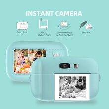 Детская мини камера с мгновенной печатью, 1080P, цифровая видеокамера Vlog, 2,0 дюймовый HD экран, видеокамера для фотографии, детский подарок