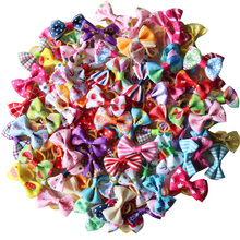 200 Pcs Pet Grooming Accessories Handmade Mix Style Puppy Dog Cat Hair Bows Rubber Bands Pet Bows For Small Dog