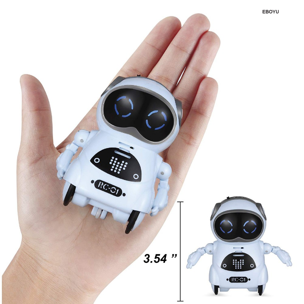 Pocket Robot Talking Interactive Dialogue Voice Recognition Record Singing Dancing Telling Story Mini Intelligent Robot Toy 4