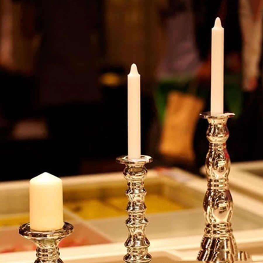 Vela de decoración de cena con Velas de cumpleaños de unicornio negro Velas de Bougie Blanche Velas aromáticas sin llama C5O337