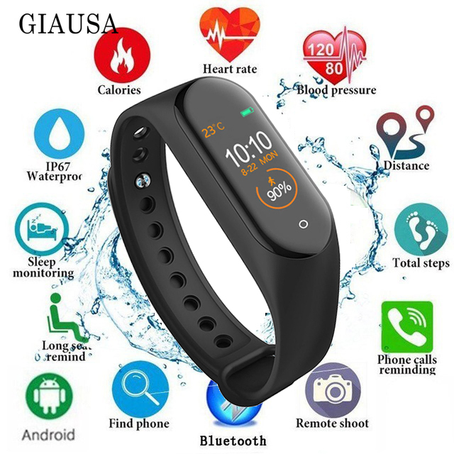M4 Smart Bracelet Message Remind/Blood Pressure/Heart Rate Monitor/Pedometer Sport wristband Band For XiaoMi iPhone Smart Phone image
