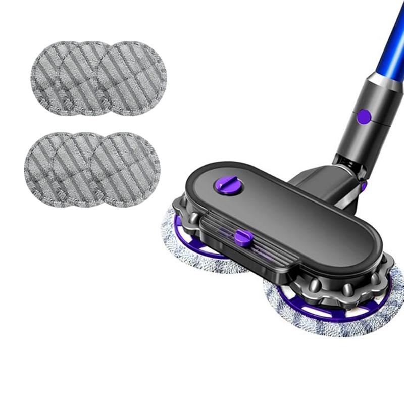 Аксессуары для пылесоса Dyson V6 V7 V8 V10 V11, 1 насадка для швабры + 6 насадок для швабры, емкость бака для воды 150 мл