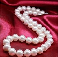 Pearl necklace natural mother of pearl pearl round glare female purple pink white
